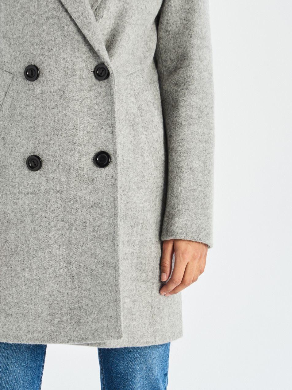 Dvouřadý kabát - světle šedá - UQ760-09M - Sinsay - 3