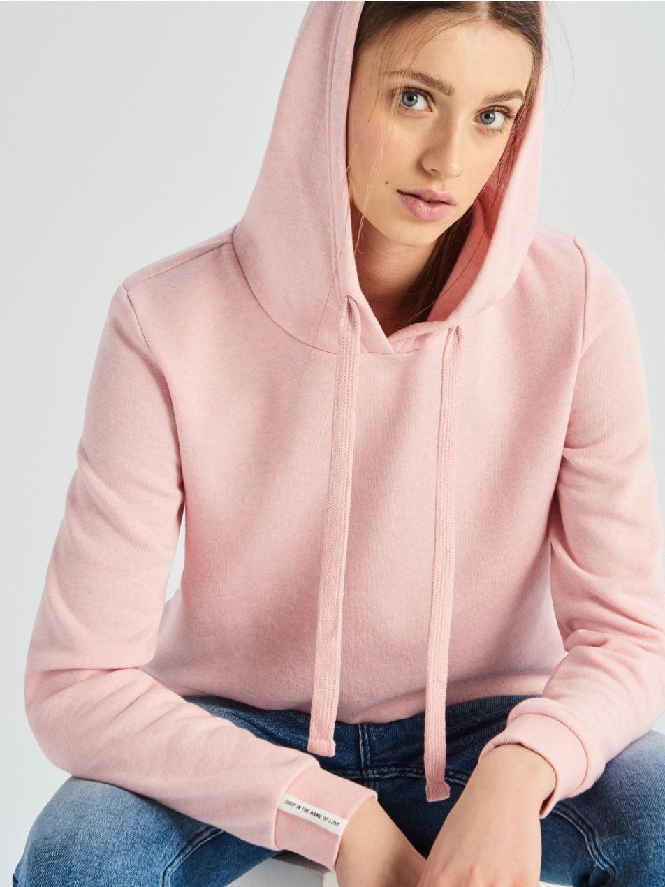 Mikina skapucí - růžová - UW736-39M - Sinsay - 1