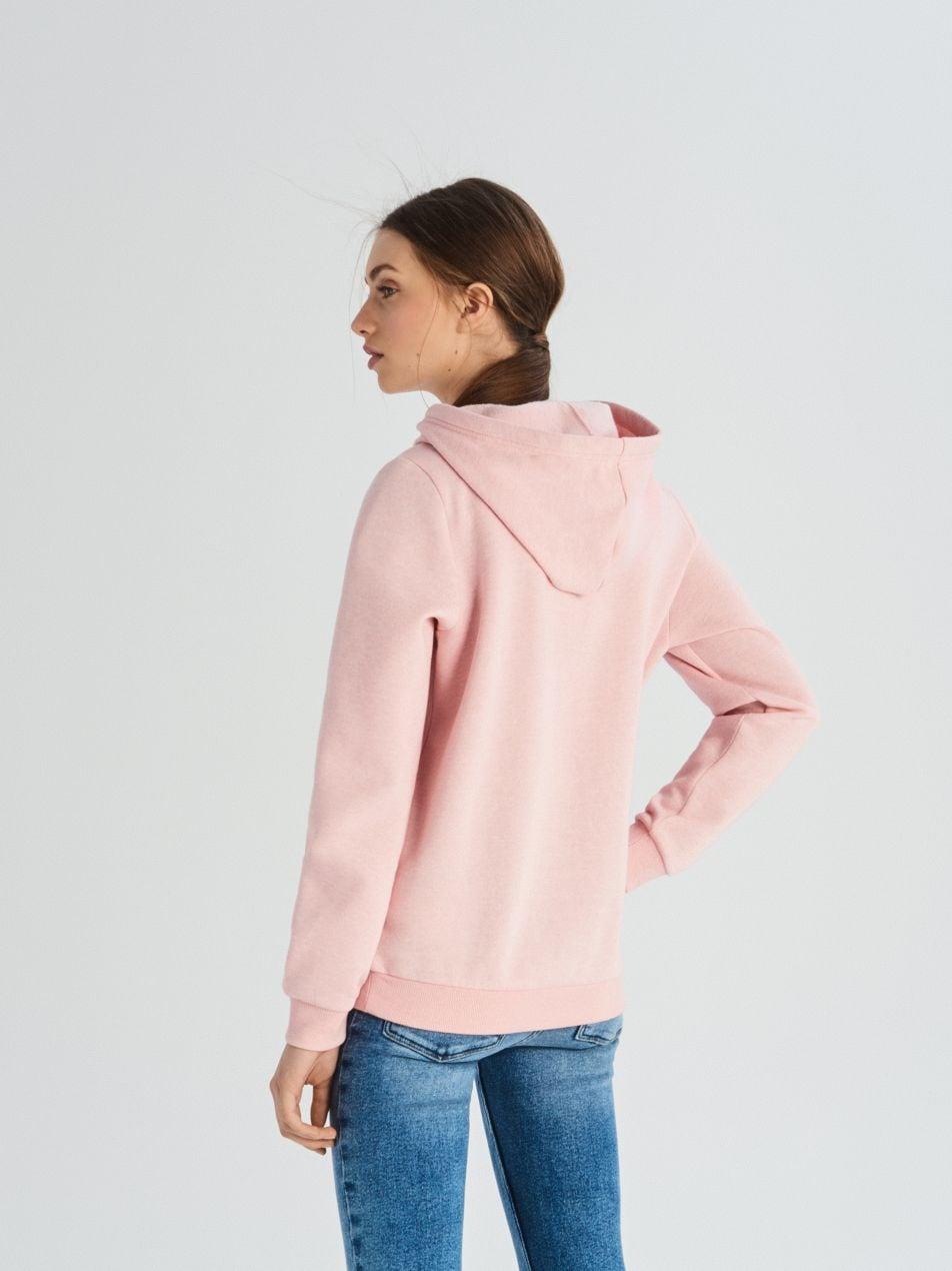Mikina skapucí - růžová - UW736-39M - Sinsay - 5