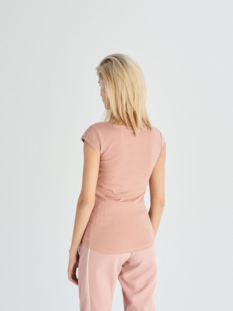 Tričko Basic - růžová - UX663-39X - Sinsay - 3