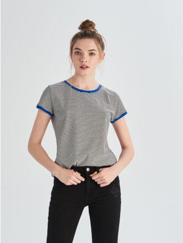 Bavlněné tričko skontrastním lemováním