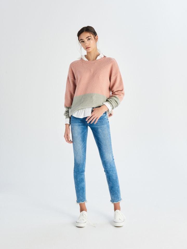 Skinny džíny se středním sedem