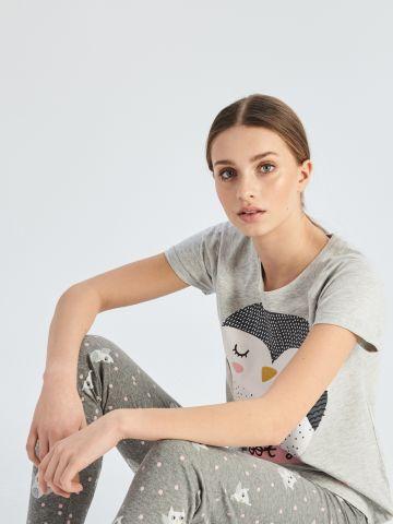 Kétrészes baglyos pizsama