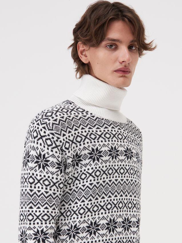 Sweter z nordyckim wzorem
