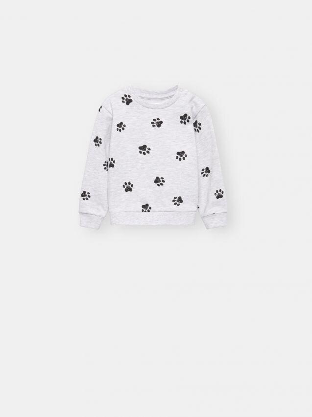 Dog paw motif sweatshirt