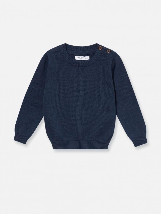 Bavlnený sveter s dlhými rukávmi