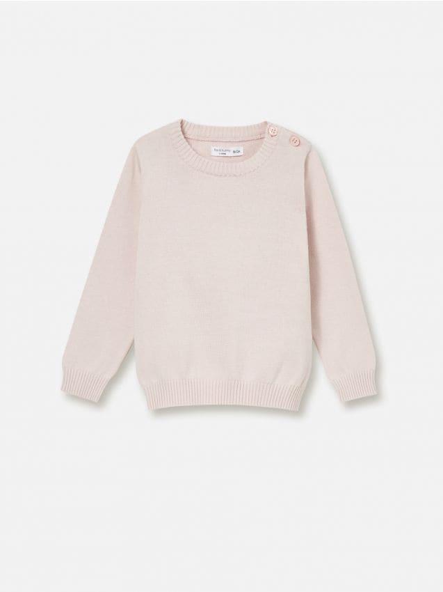 Sweter z zapięciem przy dekolcie