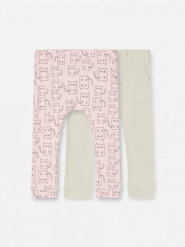 Súprava 2 úpletových nohavíc