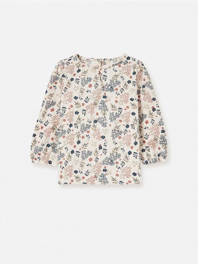 Bluzka z kwiatowym wzorem