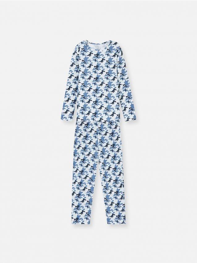 Pijama din două piese, cu imprimeu camuflaj