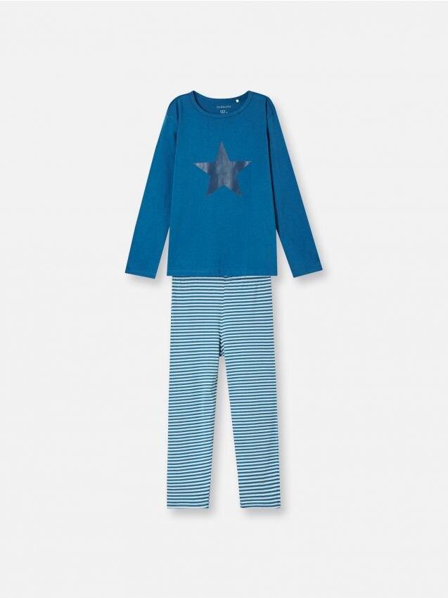 Komplet dvodijelne pidžame s prugastim donjim dijelom