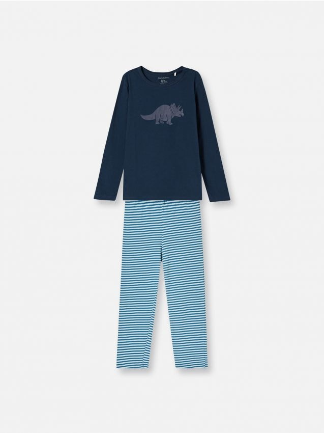 Pijama din două piese cu imprimeu cu dinozaur