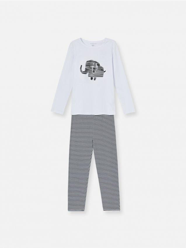 Piżama dwuczęściowa ze słoniem