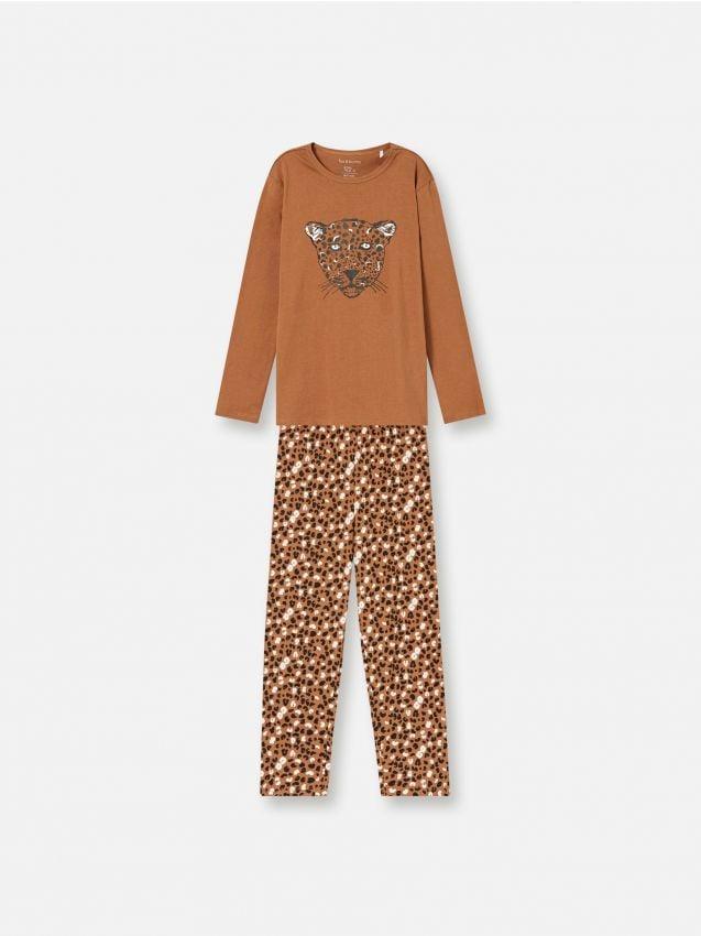 Хлопковый пижамный комплект с мотивом