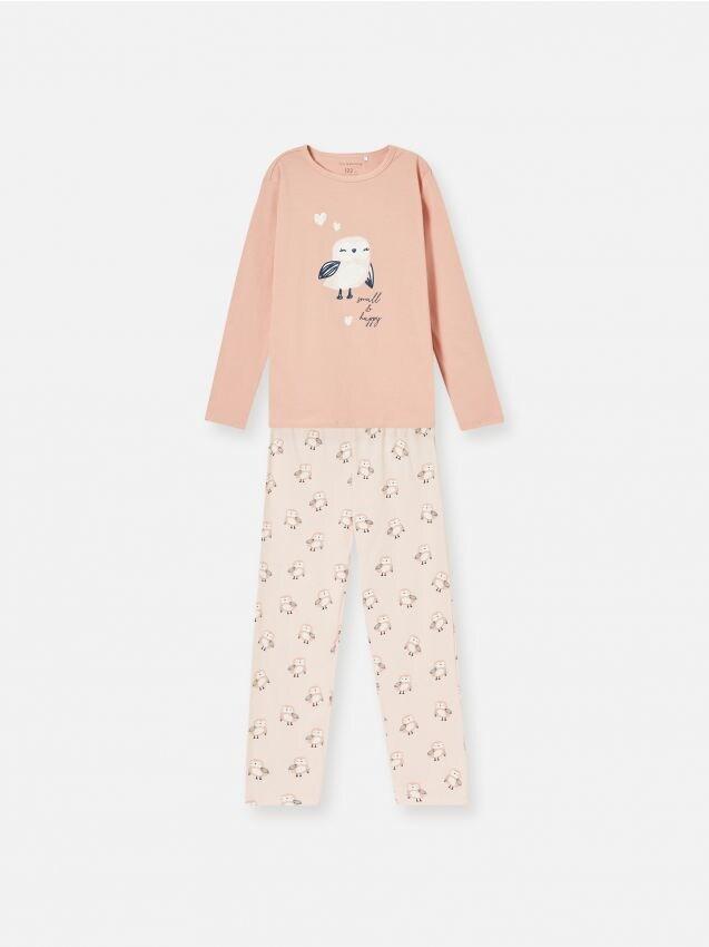 Komplet pamučne pidžame s motivom sove