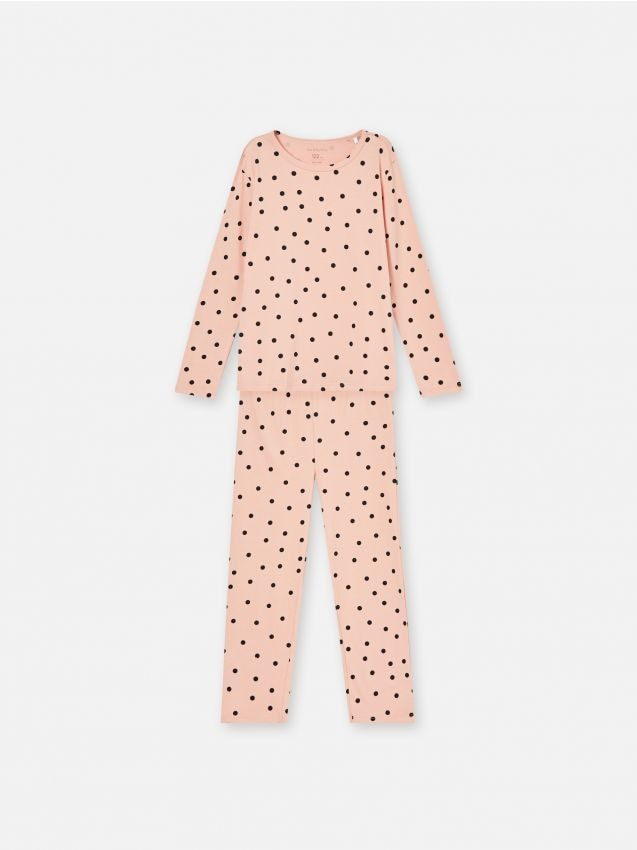 Komplet pamučne pidžame s točkicama