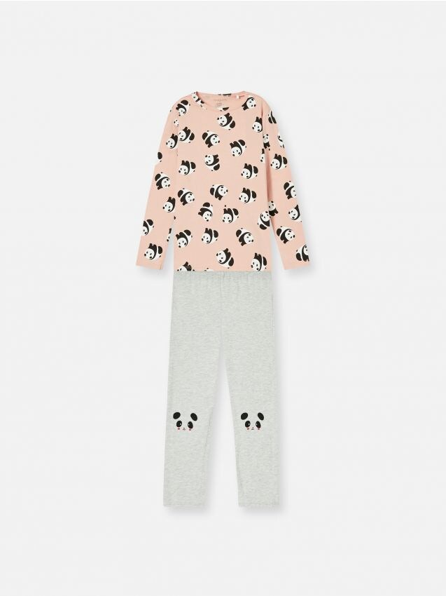 Komplet pamučne pidžame s motivom pande