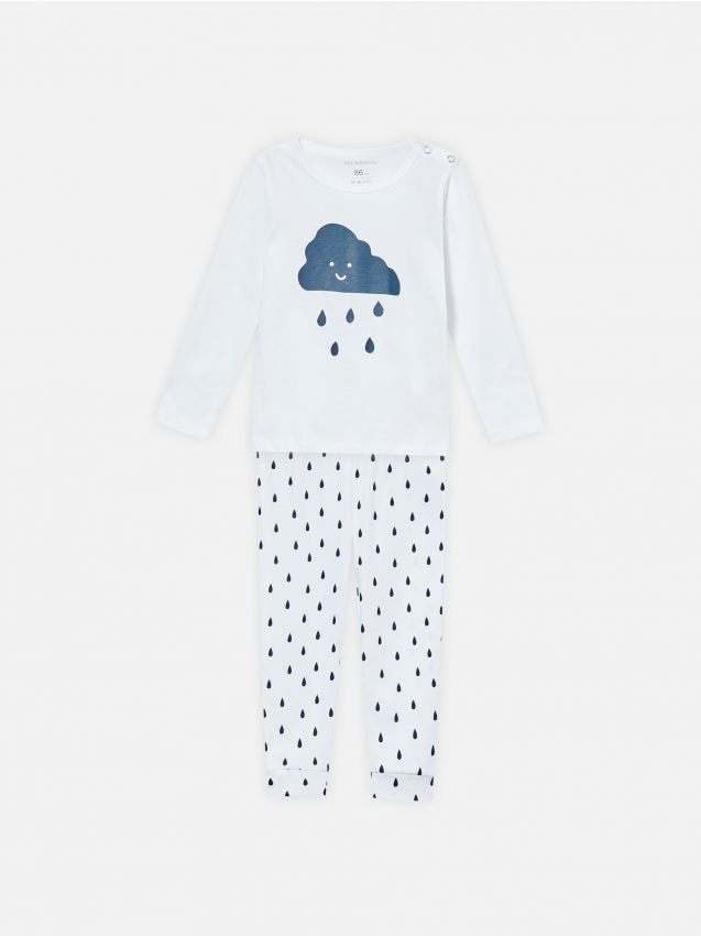 Komplet dvodijelne pidžame s motivom oblaka