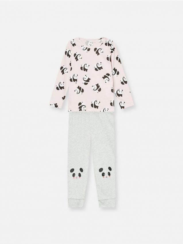 Komplet dvodijelne pidžame s printom pande