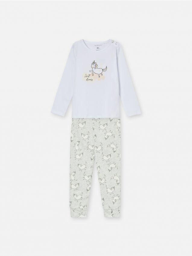 Dvodijelni komplet pidžame s motivom jednoroga