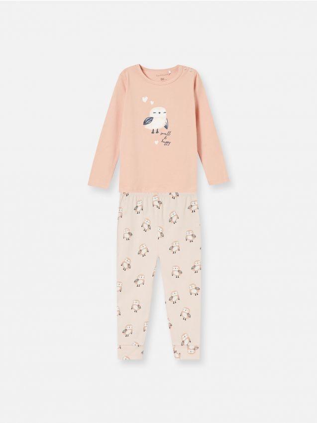 Komplet dvodijelne pidžame s motivom sove