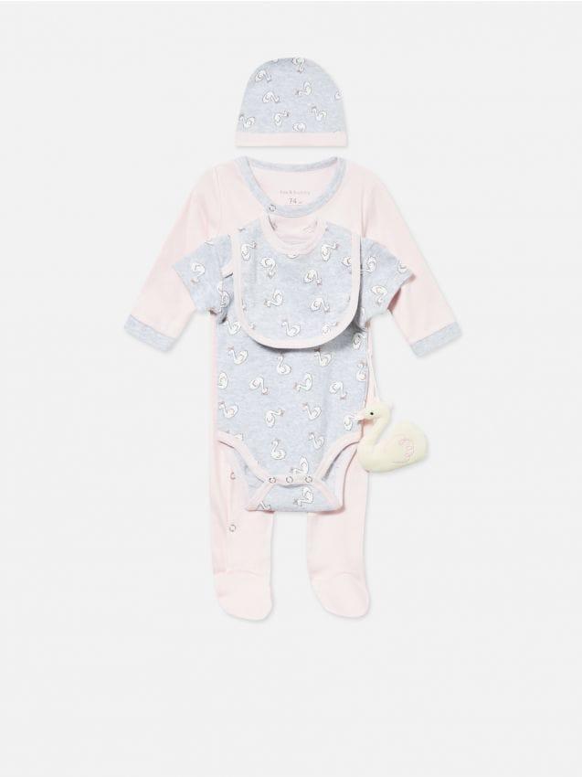 Zestaw dla niemowlaka z zabawką