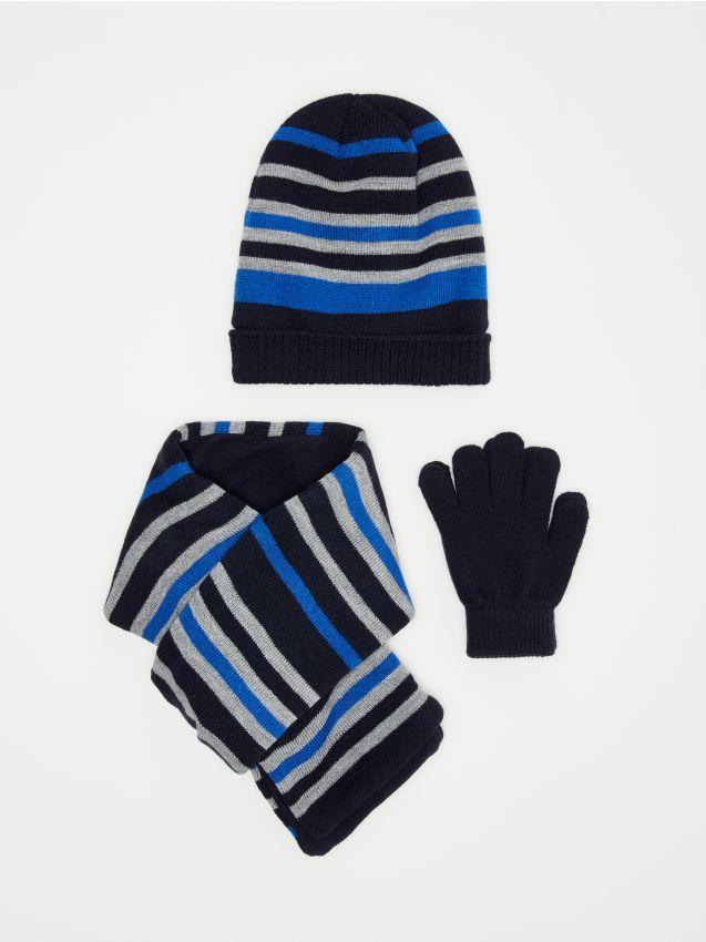 Căciulă, fular & mănuși pentru băieți