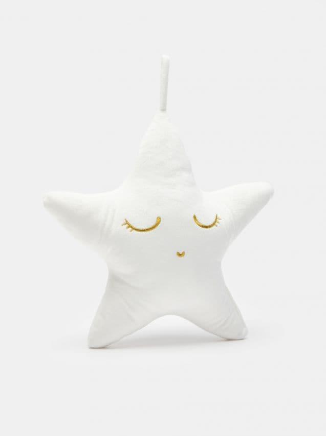 Zvaigznes formas spilvens