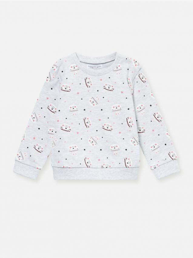 Bluza z drobnym nadrukiem