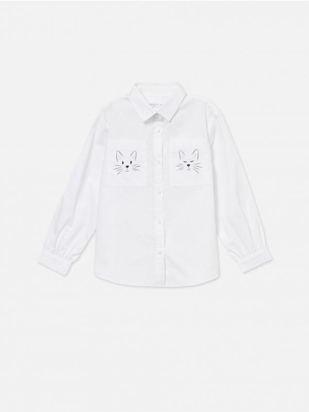 Košeľa s potlačenými vreckami