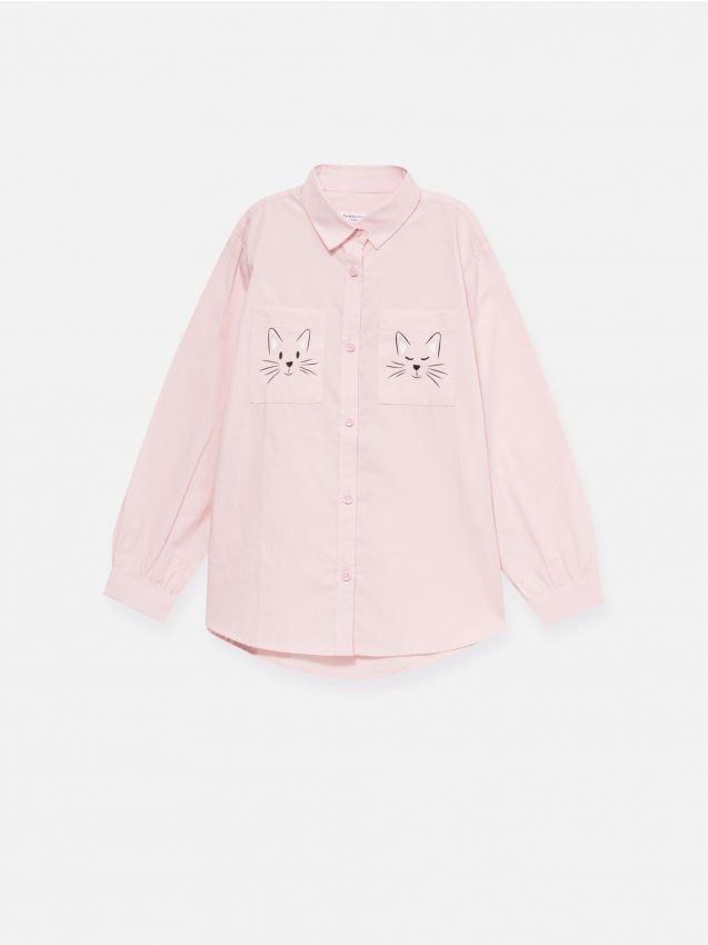 Koszula z nadrukiem na kieszonkach