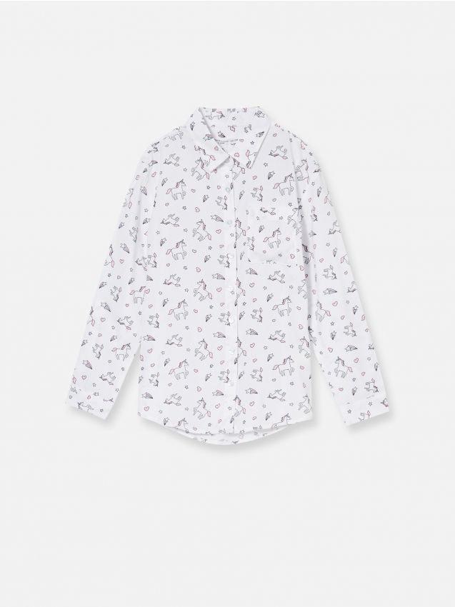 Košeľa s motívom jednorožcov