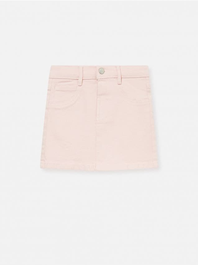 Kolorowa jeansowa spódniczka mini