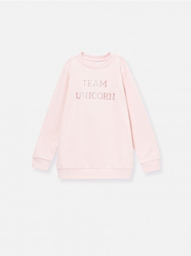 Bluză de trening cu motiv unicorn