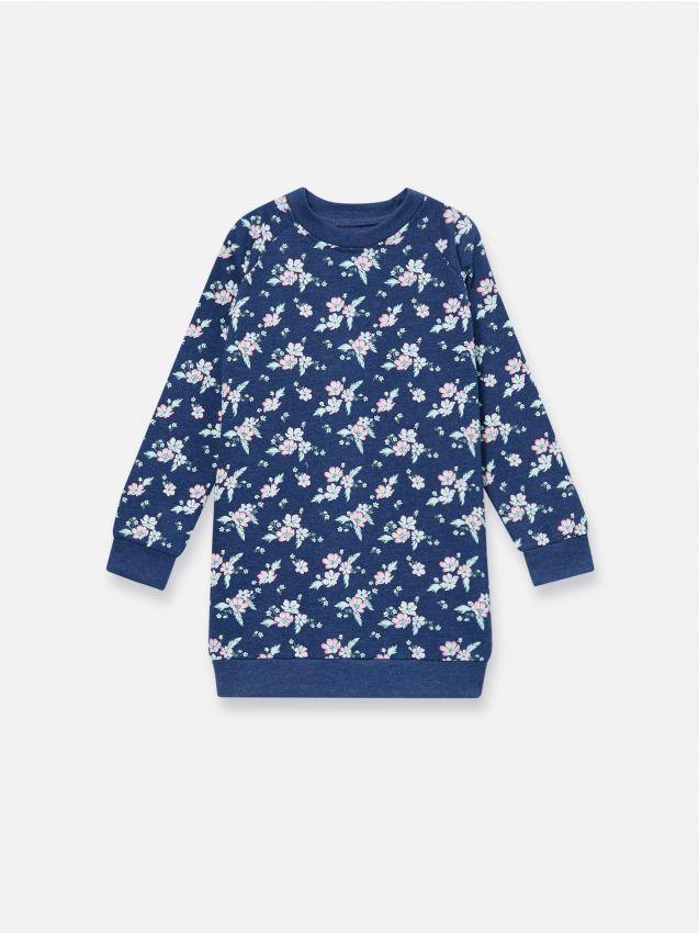 Dłuższa bluza z kwiatowym nadrukiem