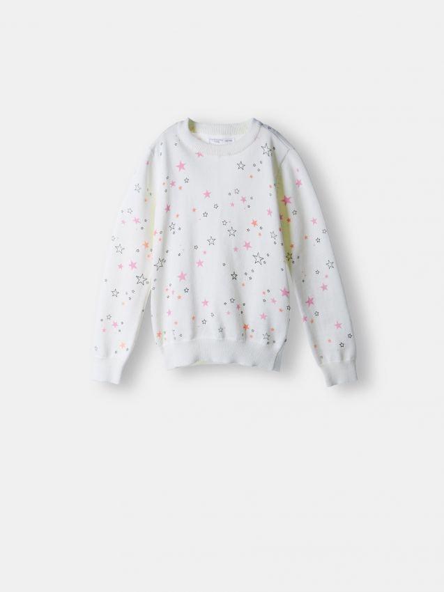 Sweter z drobnym wzorem