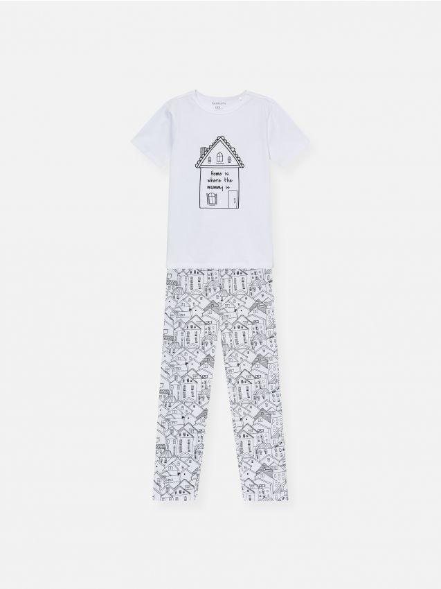 Piżama dwuczęściowa z domkiem
