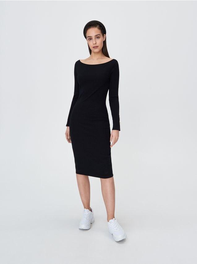 Однотонное платье миди