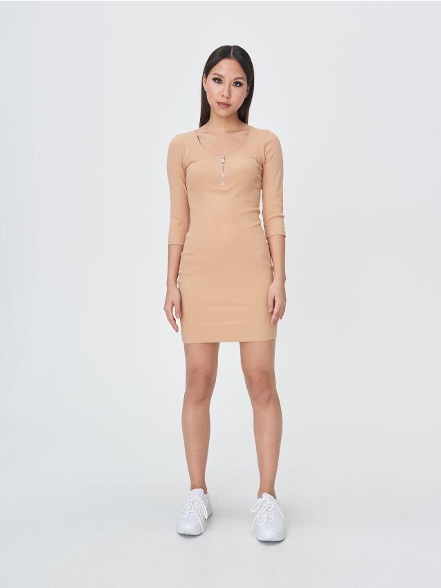 Cotton rich half-zip dress