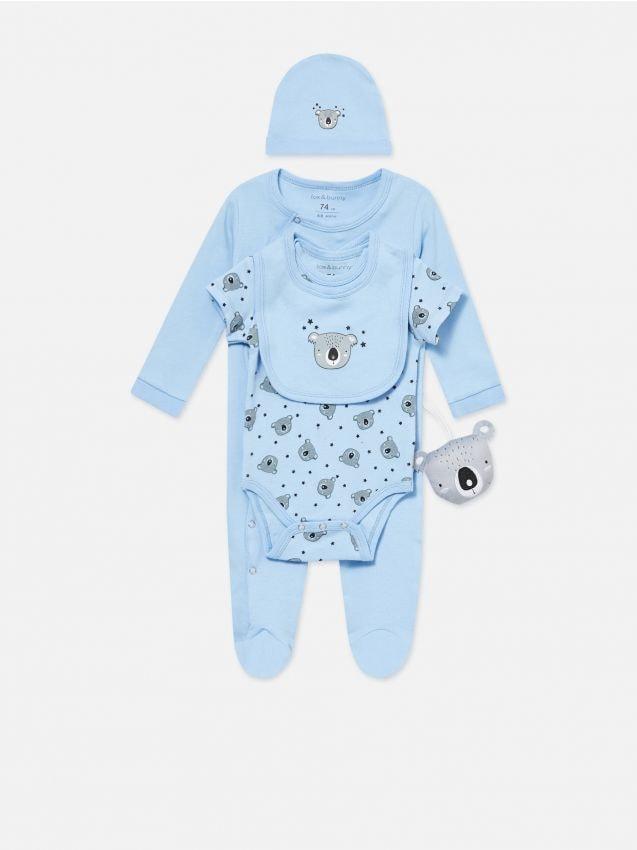 Zestaw niemowlęcy z zabawką