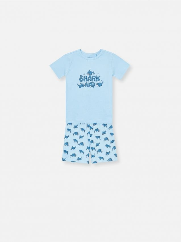 Bawełniana piżama z  rekinem