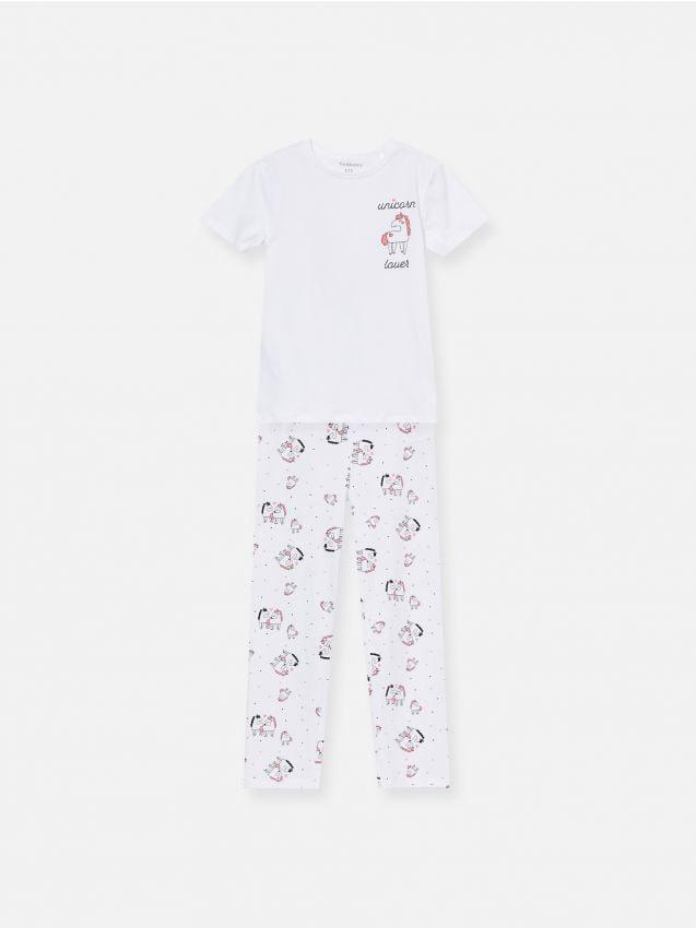 Piżama dwuczęściowa w jednorożce