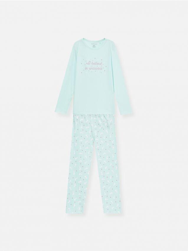 Хлопковый пижамный комплект из двух предметов