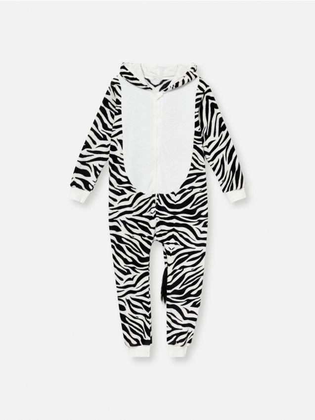 Salopetă cu motiv zebră