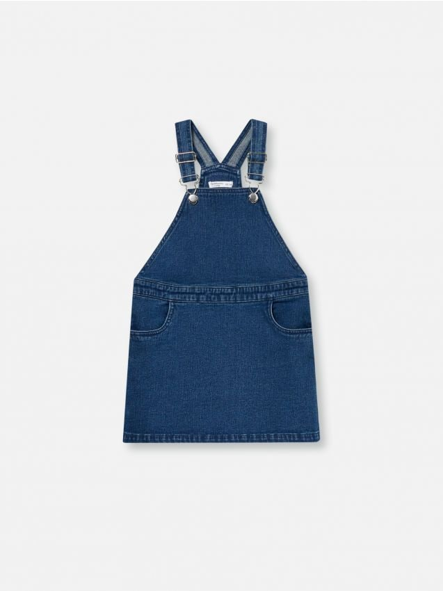 Denimové šaty na traky