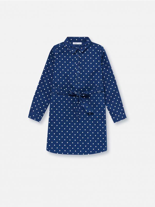 Košeľové šaty s jemnou potlačou