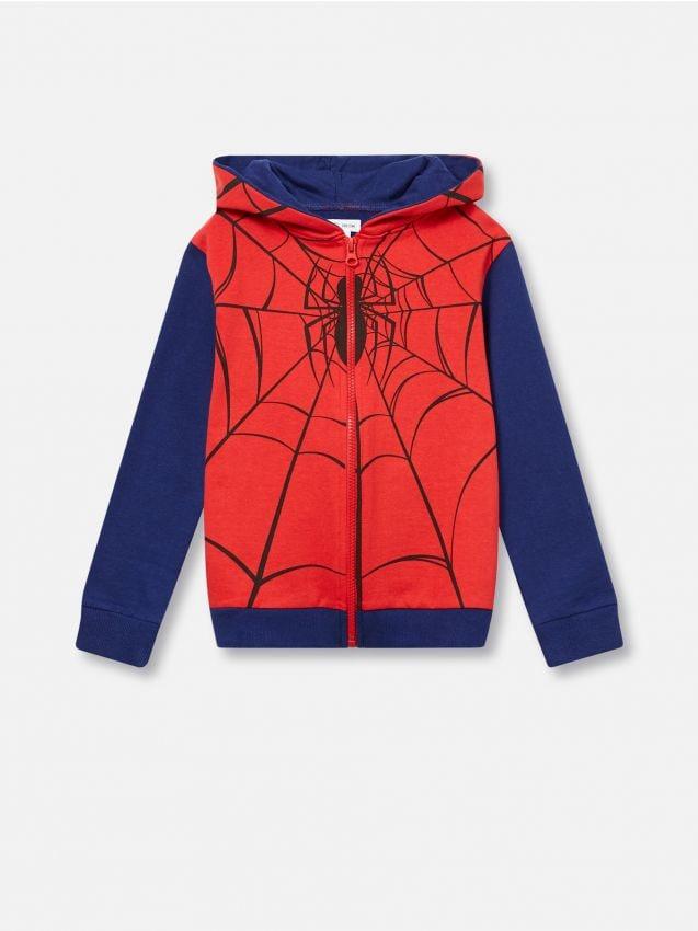 Tepláková mikina s kapucňou Spiderman