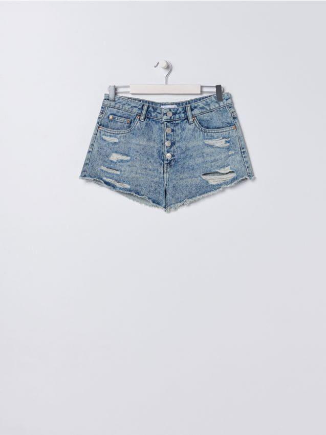Szorty jeansowe ze średnim stanem