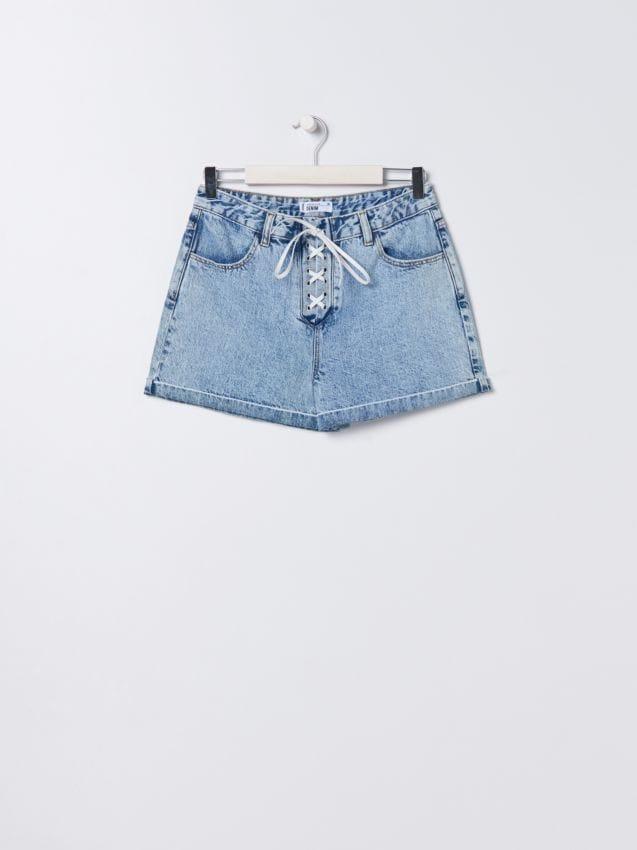 Джинсовые шорты high waist