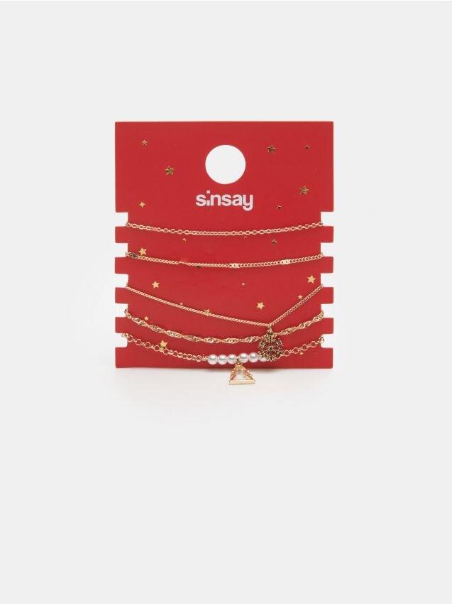 Zestaw bransoletek ze świątecznym motywem